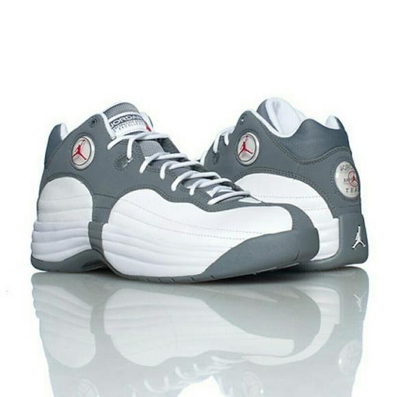 68b46e872132bf Men s Nike Team Jordan 1 grey white sneakers. M 5a79f87da6e3ea04c76268c2